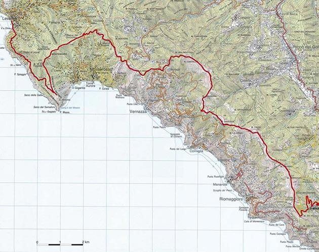 itinerari in bici cinque terre e dintorni