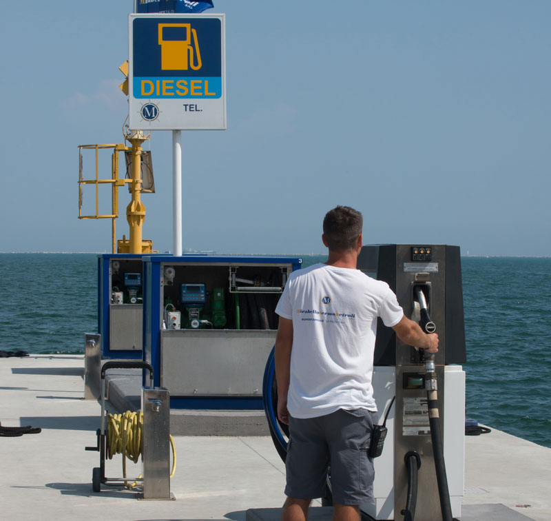 marinas with high flow fuel stations for superyacths